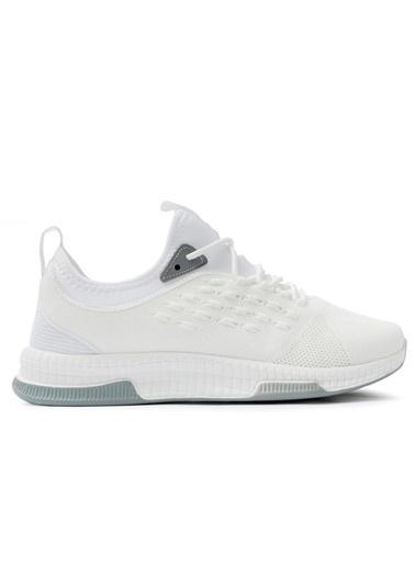 Slazenger Slazenger Troy Sneaker Kadın Ayakkabı Krem Beyaz